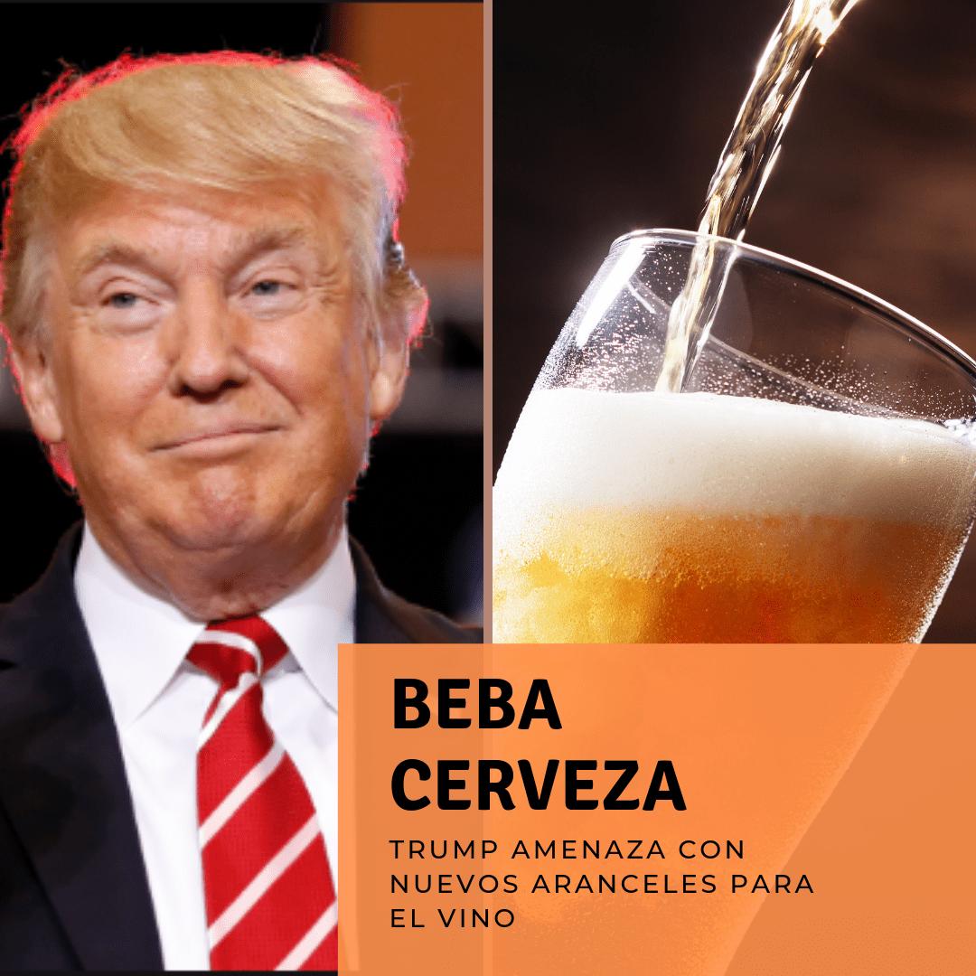 Trump amenza al vino